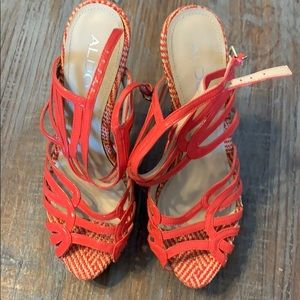 Aldo multi-color strappy heels